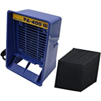 Extractor de humos con 12 filtros.