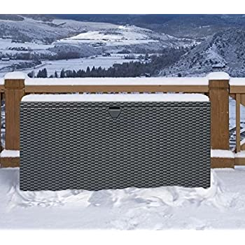 Amazon Com Sturdy Metal Deck Box Storage Bench