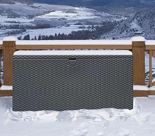 - Sturdy Metal Deck Box Storage Bench, Anthracite