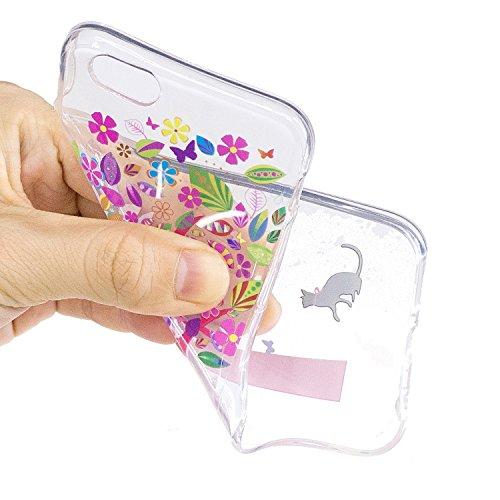 iPhone 6 / 6S Coque,Arbre sous le chat Premium Gel TPU Souple Silicone Transparent Clair Bumper Protection Housse Arrière Étui Pour Apple iPhone 6 / 6S + Deux cadeau