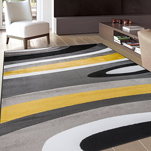 Rugshop Abstract Contemporary Modern Area Rug, 7 x 10' 2