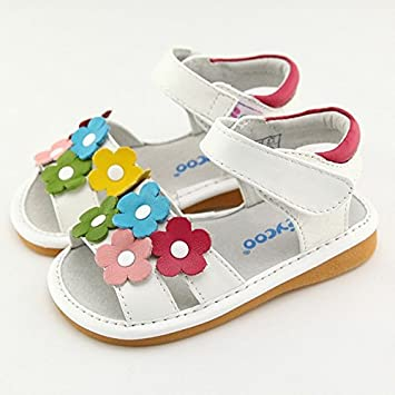 best value fast delivery buying now FREYCOO - Chaussures à sifflet fille | Sandales blanches ...