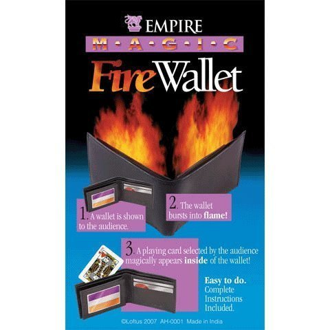 Loftus International Empire Magic Flaming Fire Wallet Trick Novelty Item