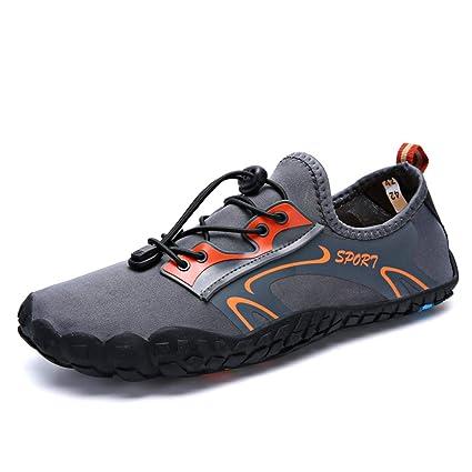 KANGLE Hombres Mujeres Zapatos de Agua, Zapatos Aqua Transpirable rápido seco Playa Zapatillas Upstream Zapatos