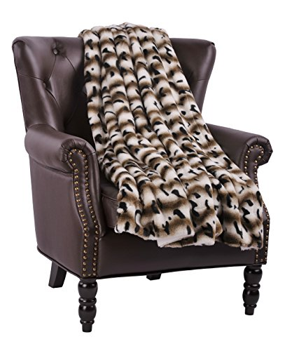 BOON Amara Faux Fur Throw with Sherpa Backing, 60