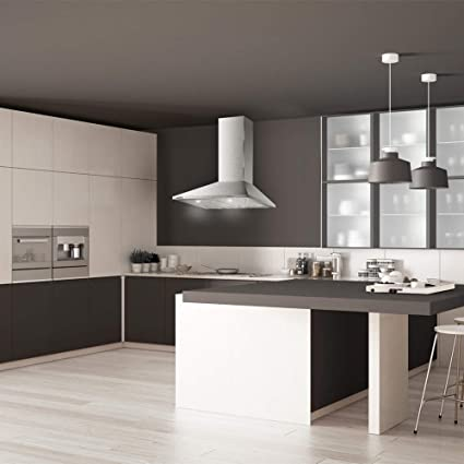 Taurus Scala 60 Inox - Campana extractora decorativa de 60 cm de 350 m3/h, 3 niveles de extracción, apta para cocinas sin salida de aire, 2 filtros de aluminio 5 capas, acero