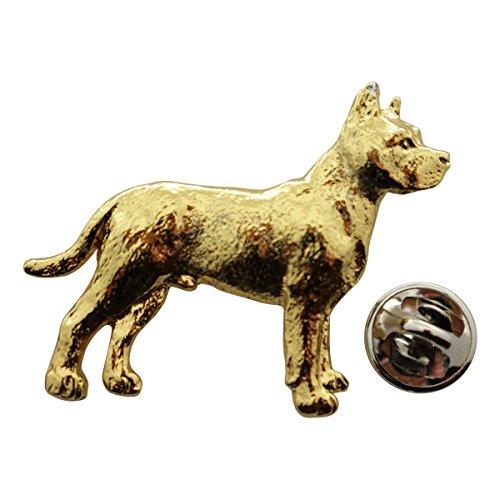 Broadhead Bull Pin (Pit Bull Pin ~ 24K Gold ~ Lapel Pin ~ Sarah's Treats & Treasures)