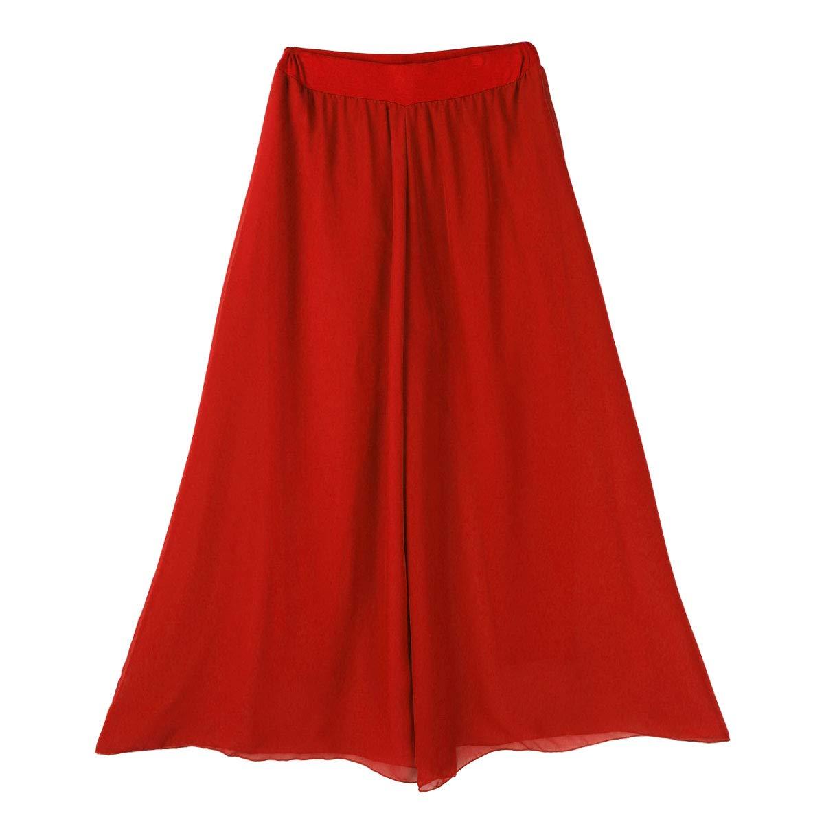 MSemis Pantalones de Danza Yoga para Mujer Chica Pantalones Anchos Falda Pantal/ón Plisado Baile Otriental Ropa Danza del Vientre Actuaci/ón Clases