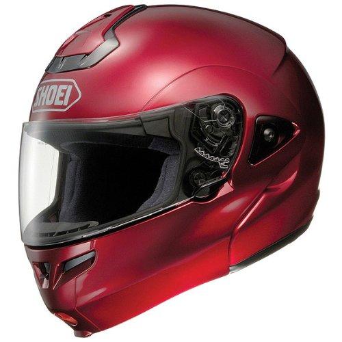 (Shoei Metallic Multitec Street Racing Street Helmet - X-Small,Wine Red)