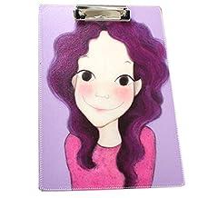 Faux Leather Fashion Writing Board Purple Girl Recipes/Paper Files Folder OFFICE
