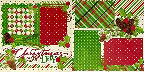 by Miss Kate Cuttables 6-2 Page 12x12 Layouts on 80lb Specialty Paper /& 30 Coordinating Die Cuts Exclusive Original Matching KIT Christmas Basics Layouts Printed Layout /& Die Cuts Kit