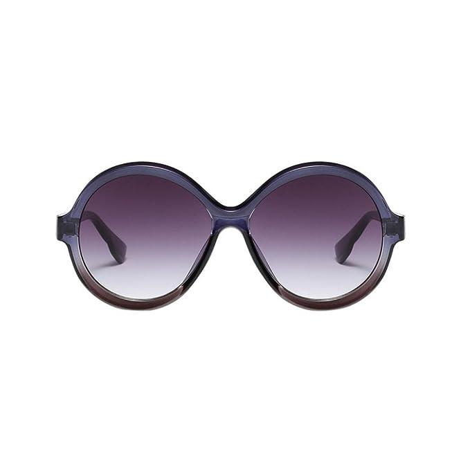 gro/ße runde Gl/äser Neon-Pink Brille