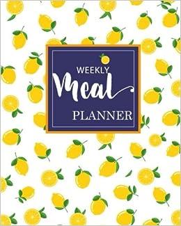 weekly meal planner weekly menu planner with grocery list 52 week