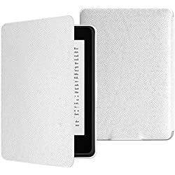 MoKo Case for Kindle Paperwhite, Premium Thinnest and Lightest PU Leather Cover with Auto Wake / Sleep for Amazon All-New Kindle Paperwhite (Fits 2012, 2013, 2015 and 2016 Versions), WHITE