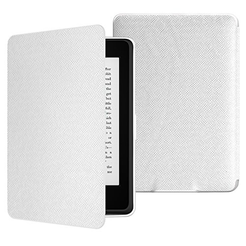 MoKo Case for Kindle Paperwhite, Premium Thinnest and Lightest PU Leather Cover with Auto Wake/Sleep for Amazon All-New Kindle Paperwhite (Fits 2012, 2013, 2015 and 2016 Versions), White