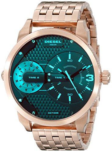 (Diesel Men's DZ7336 Mini Daddy Analog Display Analog Quartz Rose Gold Watch )