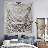 Volcanics Tarot Tapestry Wall Tapestry Hanging The Sun Tapestry Art Tapestry Bedding Medieval Europe Divination Tapestry Mysterious Tapestry for Home Decor (51''×59'', The Sun)