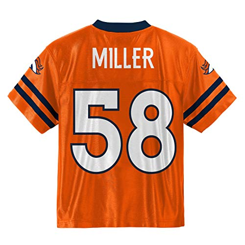 Outerstuff Von Miller Denver Broncos #58 Orange Youth Home Player Jersey (Medium 10/12)