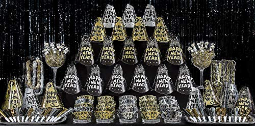 - Amscan Fantasy New Year's Party Kit for 100, Includes Top Hats, Tiaras and Bead Necklaces