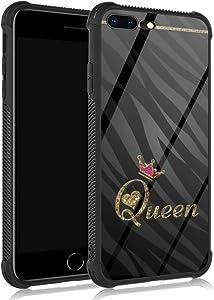ZHEGAILIAN iPhone 8 Plus Case,Noble Leopard Queen iPhone 7 Plus Cases for Girls/Women,UNBreak Reinforced Corners Fashoin Back Cover Soft TPU Bumper Frame Full Body Case Designed for iPhone 7/8 Plus