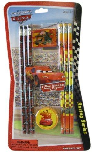 Disney Pixar 8pc Cars Pencil Set -Cars School Supplies - Cars Pencil Pack ()