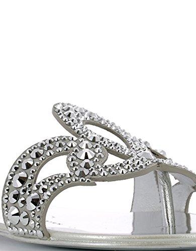 Giuseppe Design Zanotti Mujer Sandalias Cuero Plata E70026002 HH45rqw