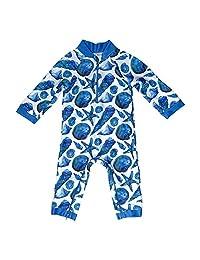 Honeysuckle Swimco Cute As Shell Baby Swimsuit - Certified UPF 50+ - Easy Inseam Diaper Zipper