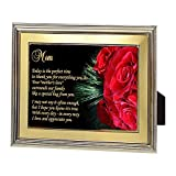 Gift for Mom – Touching Poem for Mother in Frame From Son or Daughter