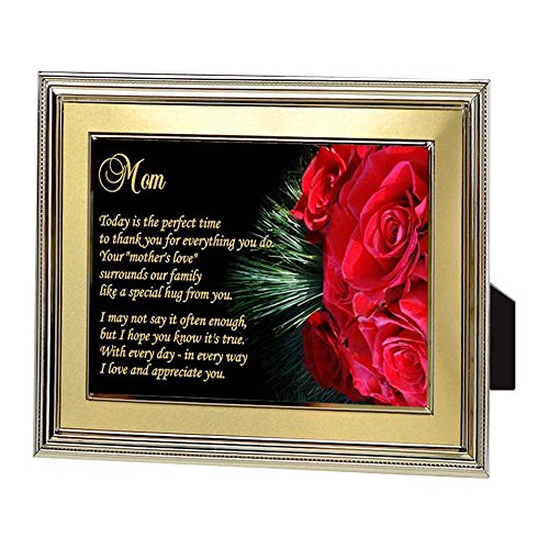 Plaque Glass Mother (Gift for Mom – Touching Poem for Mother in Frame From Son or Daughter)