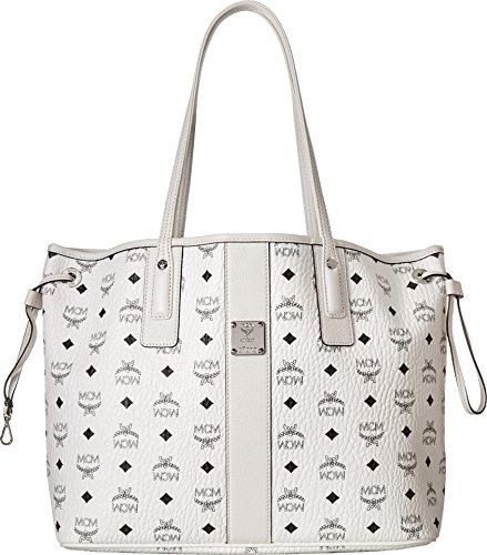 MCM Women's Liz Shopper Tote, White, One Size by MCM