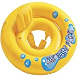 LYFLYF Swimming Ring-Baby Swimming Float With Seat Waitiee Adjustable Baby Float Safety Sitting Inflatable Soft Chair 1-6 Years Old