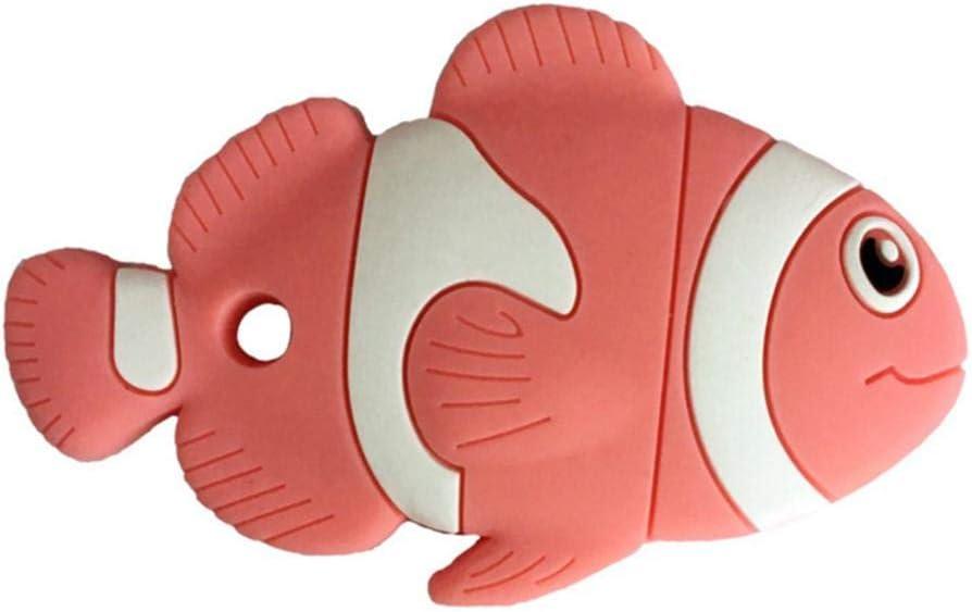 Las muelas de silicona mordedor de dibujos animados de juguete molares muelas para el pez payaso en forma de beb/é