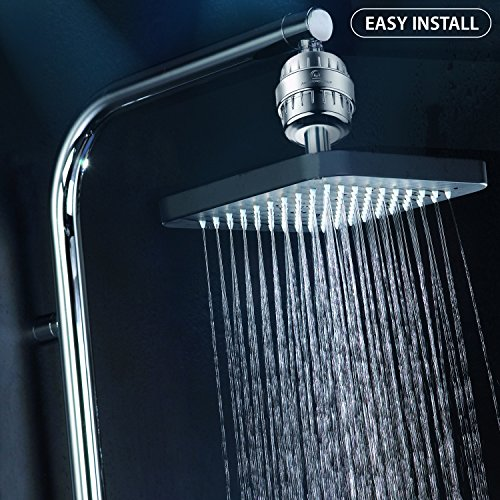 from usa 10 stage shower water filter 2 cartridge included removes chlorine impurities. Black Bedroom Furniture Sets. Home Design Ideas