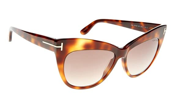 4822f44f42e12 Image Unavailable. Image not available for. Color  Tom Ford Nika Brown  Gradient Cat Eye Sunglasses