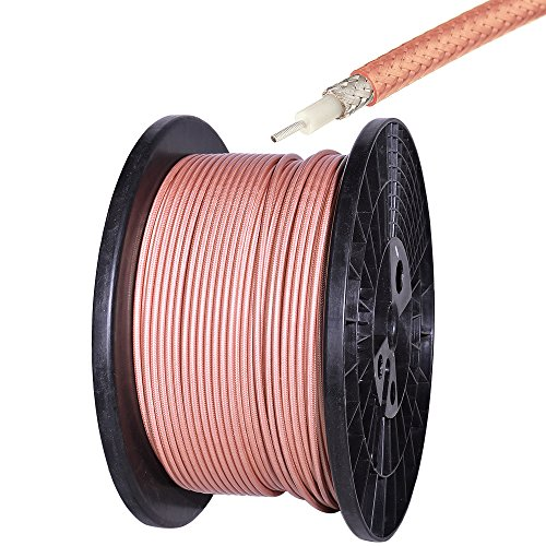 Eightwood RG400 M17/128 Double Copper Braid Shielded Coax Coaxial Cable 10 feet