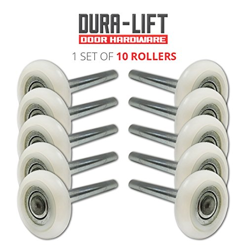 Ultra-Life 2 in. Nylon Garage Door Roller with Reinforced 6200Z Bearing and 4 in. Steel Stem (10-Pack)