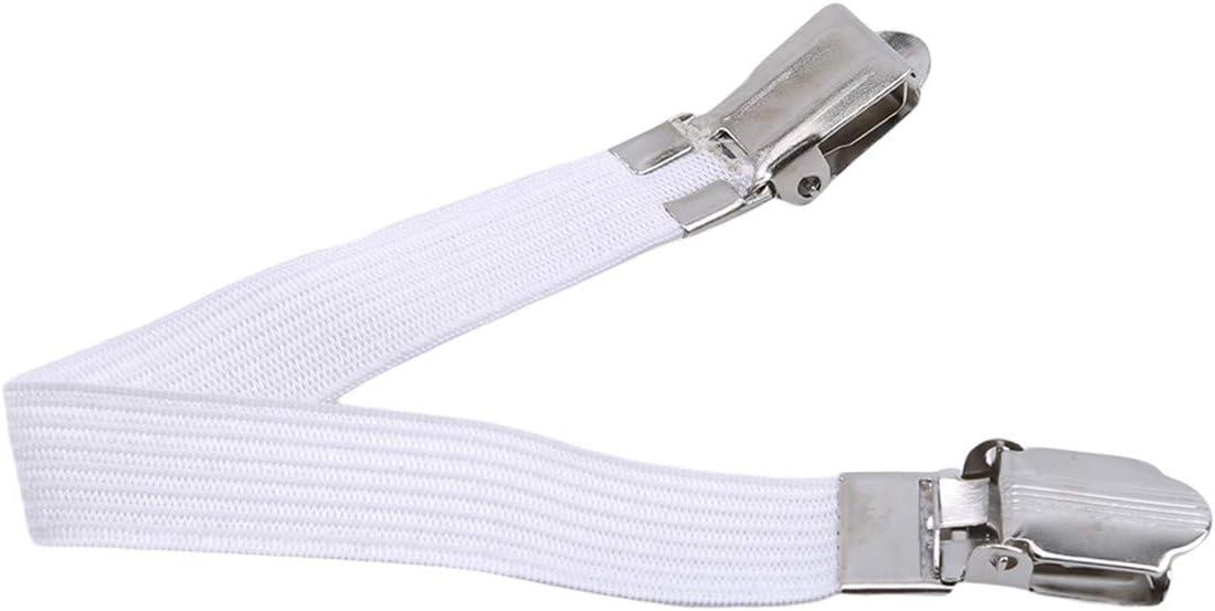 Bretelles 8.66 * 0.63inch WEIHEE Porte-Drap-Housse /élastique r/églable avec Sangles /élastiques et Attaches /à Clip pour Porte-draps Blanc