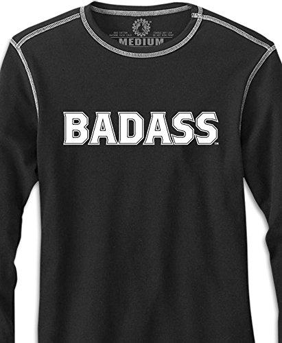 - Made In Detroit Badass Contrast Stitch Thermal- Black - Medium