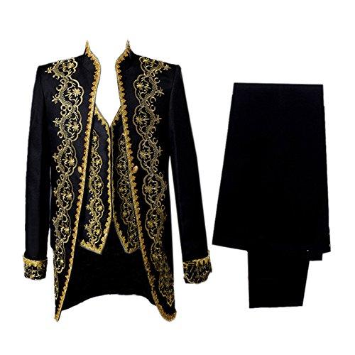 ROLECOS Mens Jacquard Medieval Tuxedo 18s Renaissance