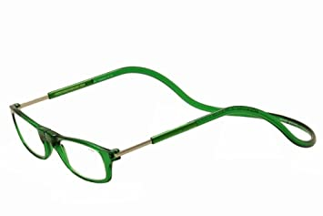 8186b3b84a Image Unavailable. Image not available for. Color  Clic Reader Eyeglasses  Original Readers Emerald Full Rim Magnetic Reading Glasses