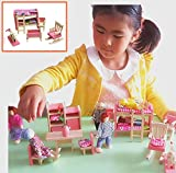 Children Bedroom Furniture Vytung Wooden Miniature Dollhouse Furniture Set Baby Girl Doll House Furniture Kids Bedroom Set 10 Pieces
