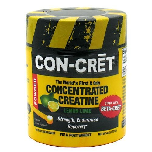 Con-Cret Concentrated Creatine Powder, Lemon Lime, 48 Servings, From ProMera Health by CON-CRET