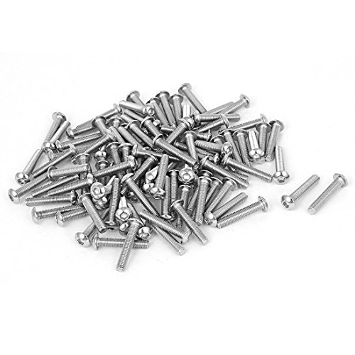 M3x16mm Button - Hex Socket Screws - SODIAL(R) M3x16mm Stainless Steel Hex Socket Button Head Bolts Screws 100 Pcs