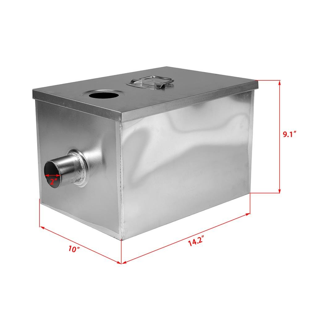 BEAMNOVA Commercial Grease Trap 8lbs 5GPM Gallons Per Minute Stainless Steel Interceptor for Restaurant Kitchen by BEAMNOVA (Image #2)