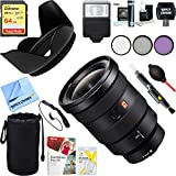 Sony SEL1635GM FE 16-35mm F2.8 GM Wide-angle Zoom Lens for Full-Frame E-Mount Cameras + 64GB Ultimate Filter & Flash Photography Bundle