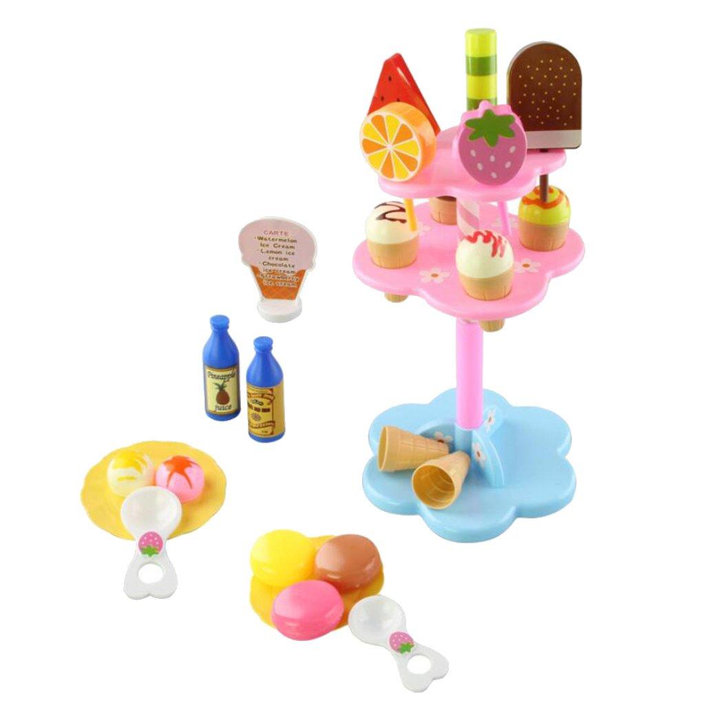 Gazechimp Kinderküche Eiscreme Dessert Lebensmittel Spielset ( Eis ...