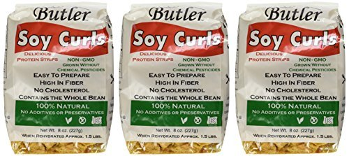 Butler Soy Curls, 8 oz. Bags (Pack of 6) by Butler Foods