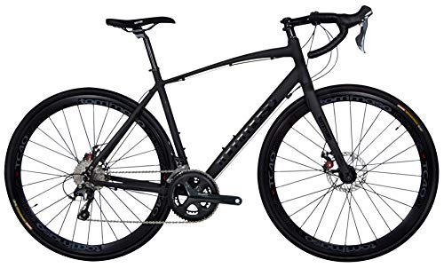 Tommaso Illimitate - Holiday Special Pricing - Shimano Tiagra Gravel Adventure Bike with Disc Brakes and Carbon Fork Perfect for Road Or Dirt Trail Touring, Matte Black