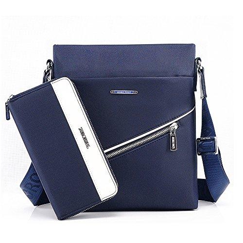 Textil Delgado Billetera Oxford Bolsa Con De Azul Vertical Crossbody Hombro Rainbow Impermeable gwW5v0nq