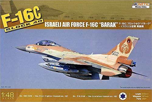 B001RTI5ZK Kinetic 1/48 F16C Block 40 Barak Israeli Air Force Aircraft 51VY2YGGgaL